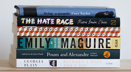 Stella Prize Shortlist Stack - photo by Connor Tomas O'Brien