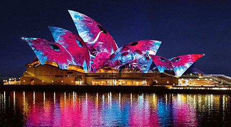 VIVID Lighting the Sails - Ash Bolland, artist impression