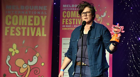 MICF Hannah Gadsby - photo by Jim Lee