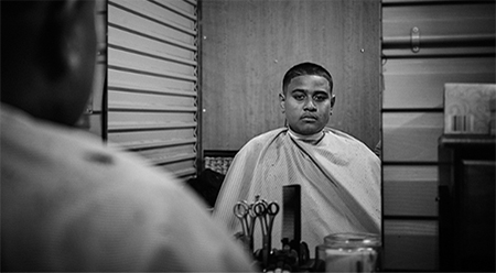 ICE Garage Barbershop - photo by Harold David