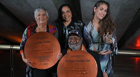 NIAA Lynette Narkle, Lisa Maza, Ancestress Teila Watson, Dr Ken Thaday Senior - photo by Maja Baska