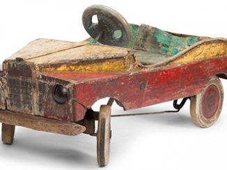 The Sydney Fair Painted Toy Pedal Car