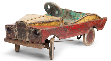 The Sydney Fair Painted Toy Pedal Car