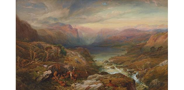 AGNSW Thomas Miles Richardson Jr Evening, Loch A'an, Grampians, Aberdeenshire 1883