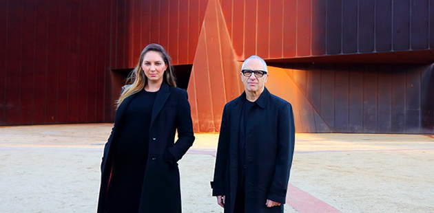 MAF Maree Di Pasquale and Charles Justin on the future site of the 2018 Melbourne Art Fair