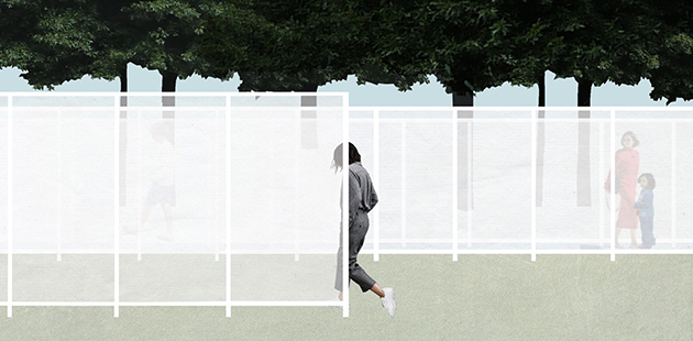 NGV Architecture Commission 2017, Garden Wall - concept sketch by Retallack Thompson and Other Architects
