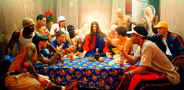 BIFB David LaChapelle, Last Supper from Jesus Is My Homeboy series, 2003 (detail)