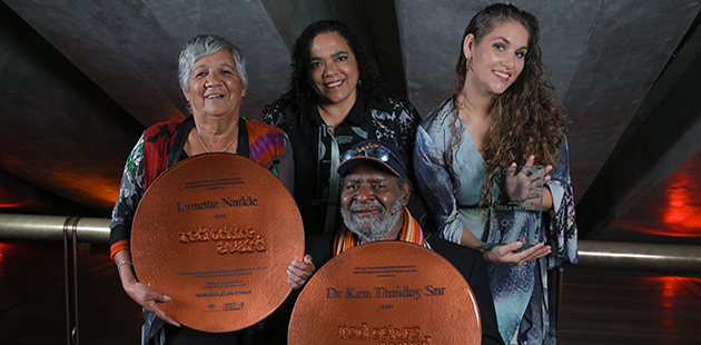 Lynette Narkle, Lisa Maza, Ancestress / Teila Watson, and Dr Ken Thaiday Snr - photo by Maja Baska