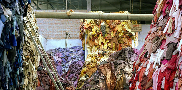 RMIT Fast Fashion Tim Mitchell, Mutilated hosiery sorted by colour, 2005 (detail).jpg