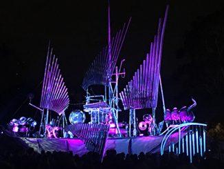 White Night Melbourne 2017 Pyrophone Juggernaut - photo by Rohan Shearn