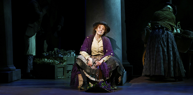 My Fair Lady Anna O'Byrne as Eliza Doolittle - photo by Jeff Busby