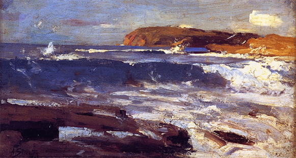 Arthur Streeton, An Impression from the Deep, 1889 AGSA