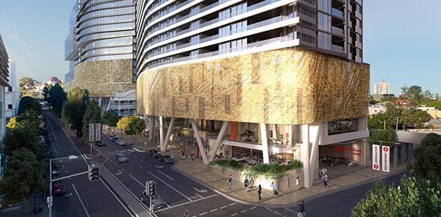 Artist Impression of Ned Kahn's Sun Veil on the Southpoint development in South Bank