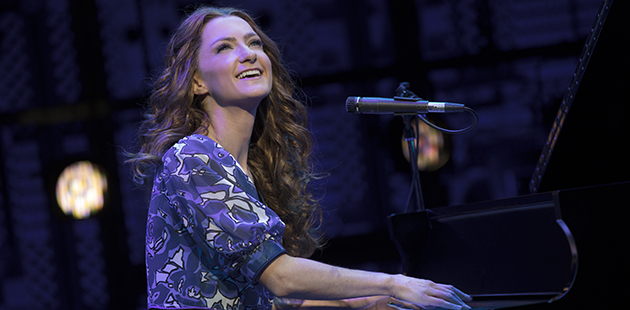 Beautiful The Carole King Musical Esther Hannaford as Carole King - photo by Joan Marcus