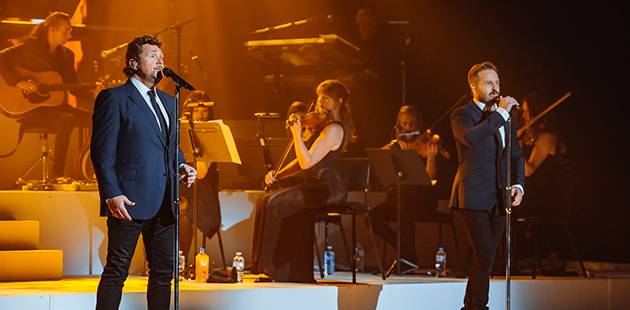 Michael Ball & Alfie Boe at QPAC Brisbane - photo by Mitch Lowe