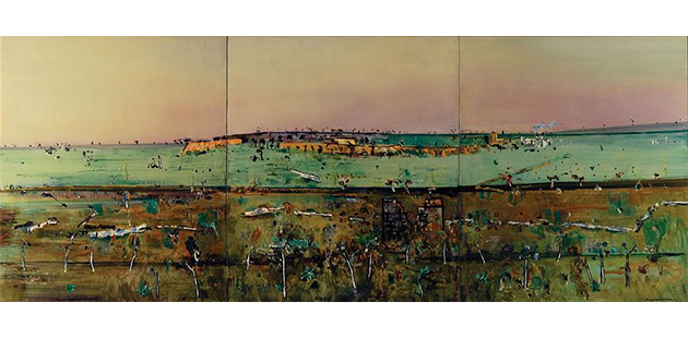 Fred Williams Lilydale Triptych I 1974