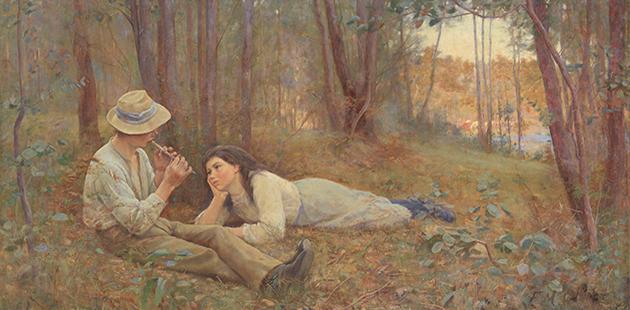 NGA Frederick McCubbin Bush idyll 1893