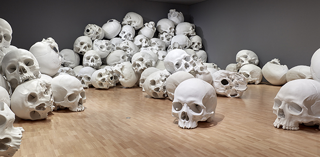 NGV Ron Mueck, Mass, 2016-17 (Installation view) - photo by Sean Fennessy