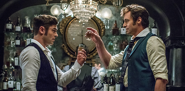 Zac Efron and Hugh Jackman star in The Greatest Showman - photo by Niko Tavernise