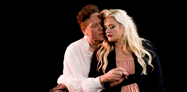 Neal Cooper as Tristan and Lee Abrahmsen as Isolde - photo by Jodie Hutchinson
