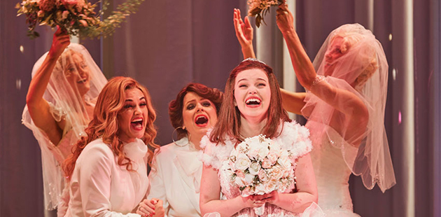 Muriel's Wedding the Musical - Here Comes the Bride - photo by Lisa Tomasetti