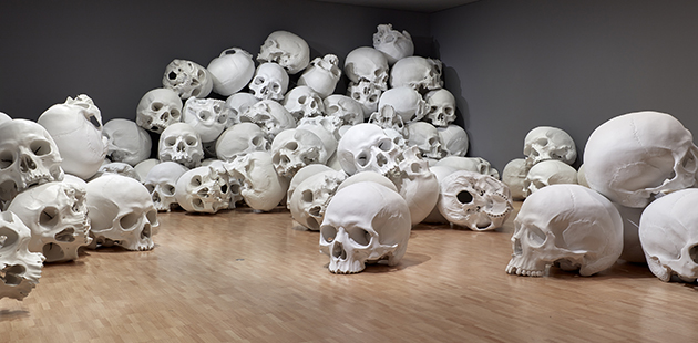 NGV Ron Mueck Mass (detail) 2016–17 - photo by Sean Fennessy