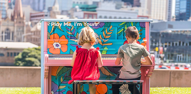 Play Me, I'm Yours - courtesy of Arts Centre Melbourne AAR