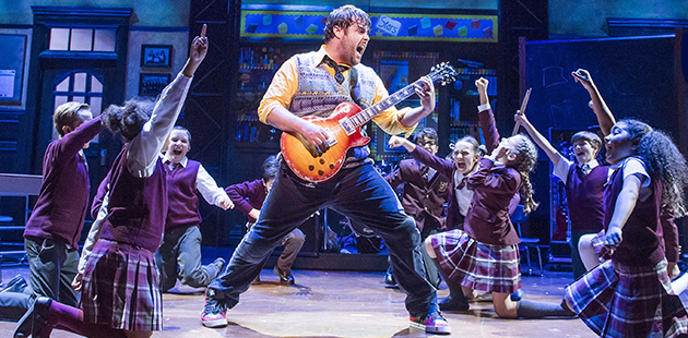 The London Cast of School of Rock - The Musical - photo by Tristram Kenton