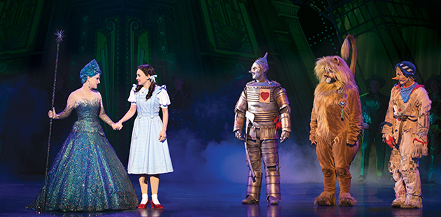 The Wizard of Oz Lucy Durack, Samantha Dodemaide, Alex Rathgeber, John Xintavelonis and Eli Cooper - photo by Jeff Busby