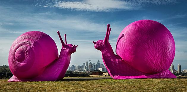 Snailovation - photo courtesy of Art and About / City of Sydney