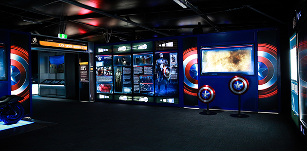 Captain America Room - Avengers S.T.A.T.I.O.N. (installation view)
