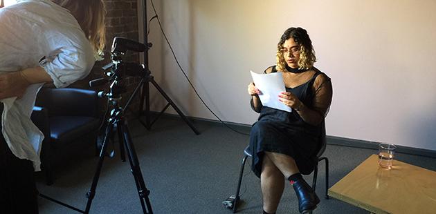 Kate Blackmore filming Sabella DSouza - photo by Penelope Benton