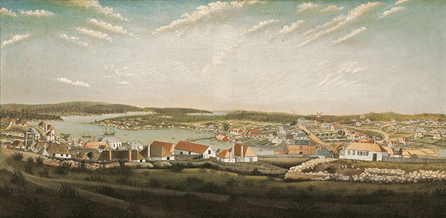 NGV Unknown Thomas Watling (after), View of the town of Sydney in the colony of New South Wales c. 1799