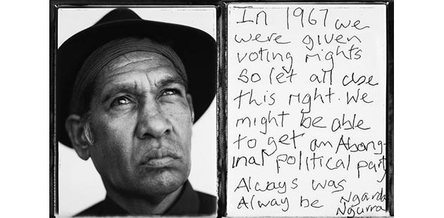 Tobias Titz, Alum Cheedy comments on the 1967 Referendum - photo by and copyright Tobias Titz