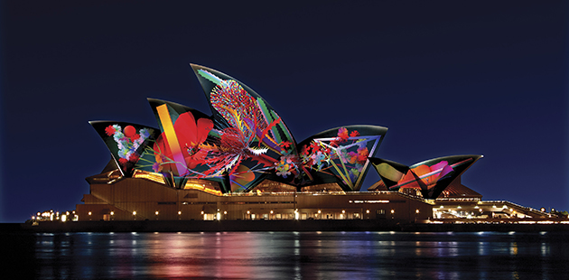 VIVID Sydney Metamathemagical – Artist impression by Jonathan Zawada - Bouquet