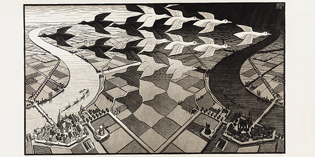 M.C. Escher, Day and Night - © The M.C. Escher Company, The Netherlands. All rights reserved.