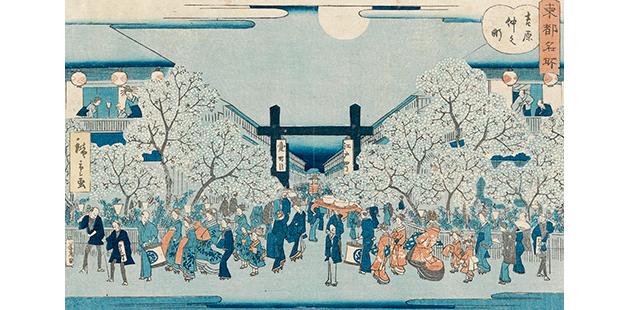 NGV Utagawa Hiroshige II, Nakanocho in the Yoshiwara