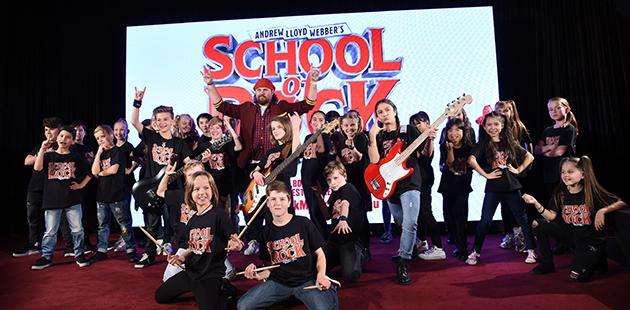 School of Rock - Dewey and kids - photo by Jim Lee AAR MT