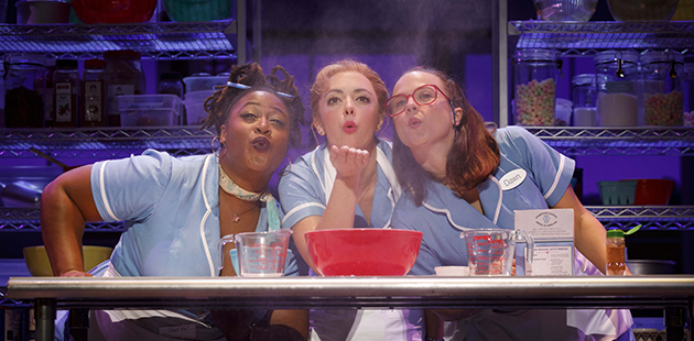 AAR Charity Angel Dawson, Desi Oakley and Lenne Klingaman in the National Tour of WAITRESS - photo by Joan Marcus