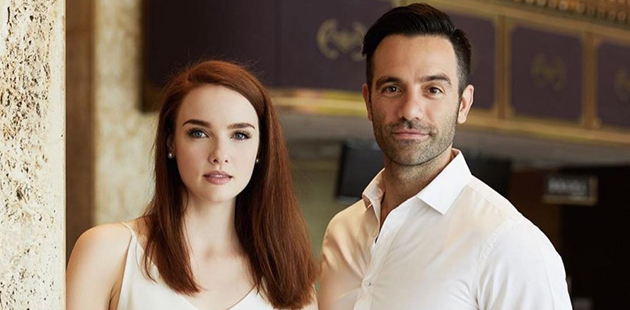 Anna O'Byrne and Ramin Karimloo