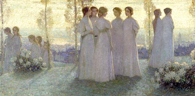 Henri Le Sidaner, Le Dimanche, 1898 (detail)