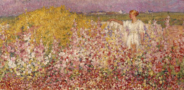 AGNSW John Russell,Mrs Russell among the flowers in the garden of Goulphar, Belle-Île,1907