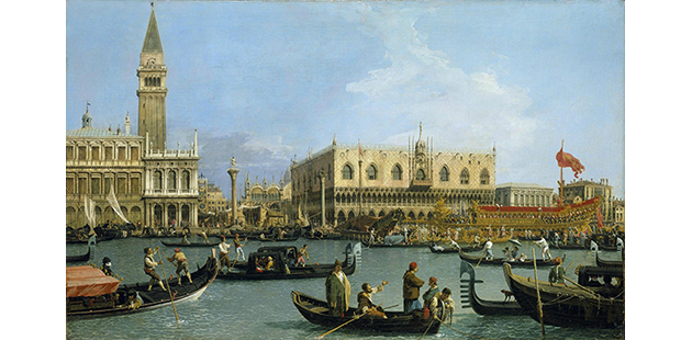 Canaletto, Venice: The Bacino di S. Marco on Ascension Day, c.1733–4. Royal Collection Trust