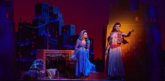 Disney Aladdin (Ainsley Melham) and Jasmine (Shubshri Kandiah) - photo by James Green