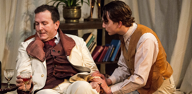 MT The Judas Kiss Chris Baldock (Oscar Wilde) and Patrick Galen-Mules (Robert Ross)