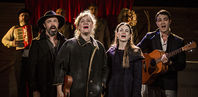 Anthony Gooley, Virginia Gay, Laura Bunting, Matthew Pearce in Calamity Jane - photo by John McRae