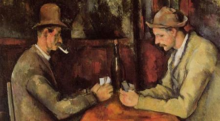 Paul Cézanne, The Card Players, 1896 (detail)