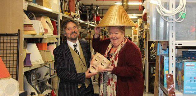 Dr Mark R.W. Williams with Sally-Anne Upton, President, Victorian Actors' Benevolent Trust