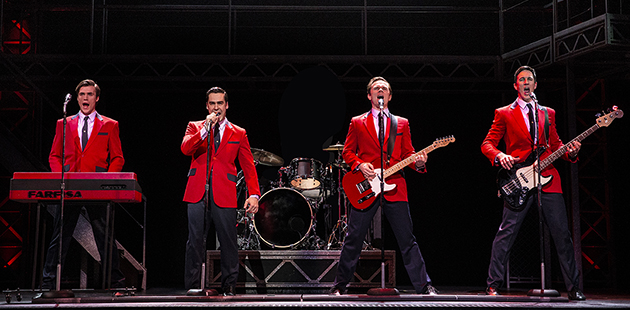 Thomas McGuane, Ryan Gonzalez, Cameron MacDonald and Glaston Toft star in the Jersey Boys - photo by Jeff Busby