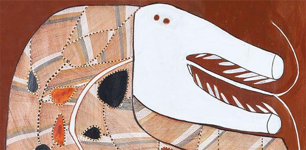 John Mawurndjul,Ngalyod(detail), 2012